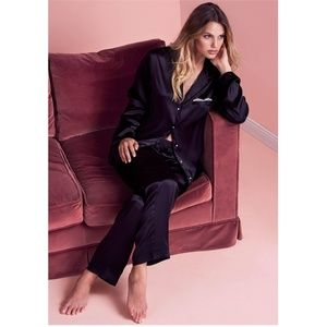 Intimissimi Black Chic Silk Pajama Pants